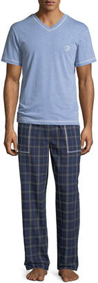 Robert Graham Men's V-Neck Top Flannel Pant Set