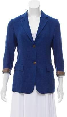 Luciano Barbera Wool-Blend Woven Blazer