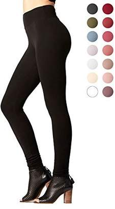 Conceited Premium Ultra Soft Basic Leggings - High Waist - Regular and Plus Size - 12 Colors by (Large/X-Large, )
