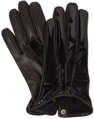 9b6fca83a Black & Red Leather Gloves Women - ShopStyle UK