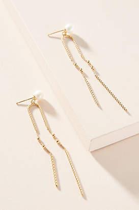 Anthropologie Aria Pearl Drop Earrings