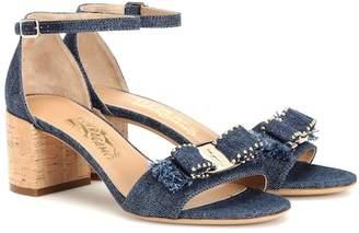 e7a74c3fd953 Salvatore Ferragamo Gavina 55 denim sandals