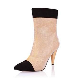 AIIT Women's Fashion Stiletto Mid Heel Ankle Boot Shoe