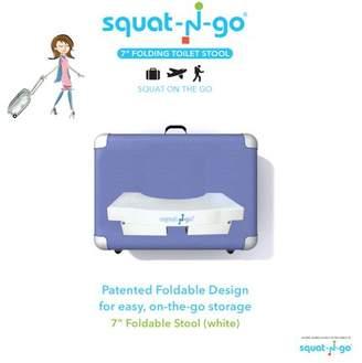 "Squat-n-go 7"" Foldable toilet stool White"