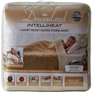 Dreamland Lux Velvet Heated Overbed Sherpa Fleece