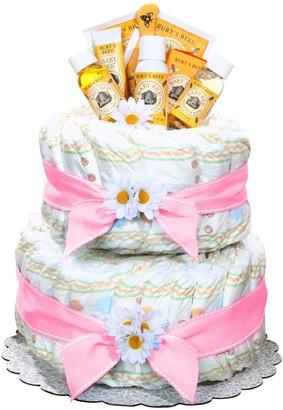 Burt's Bees Baby Baby Organic Diaper Cake Gift Basket - Girl