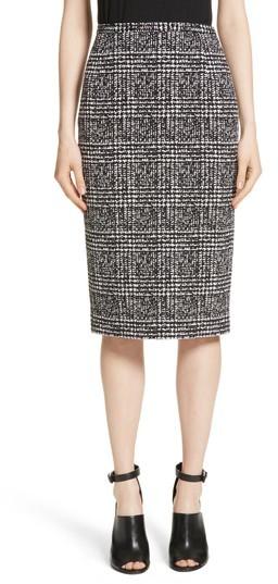 Women's Michael Kors Glen Plaid Stretch Jacquard Skirt
