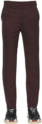 Balenciaga 19cm Tech Twill Check Trousers