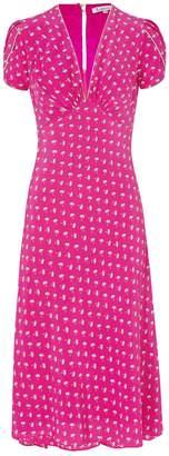 Libelula Tamara Dress Hot Pink Palm Tree Print