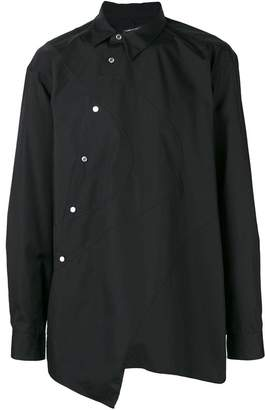Comme des Garcons asymmetric off-centre buttoned shirt