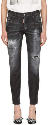 DSQUARED2 Black Boyfriend Jeans