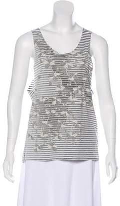 AllSaints Sleeveless Printed Top