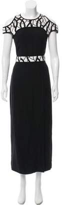 Yigal Azrouel Cold-Shoulder Embellished Dress w/ Tags