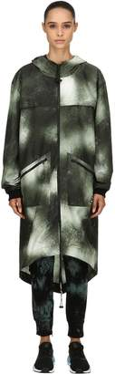 Tie Dye Waterproof Long Raincoat