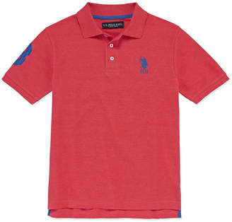 U.S. Polo Assn. USPA Embroidered Short Sleeve Pique Polo - Big Kid Boys