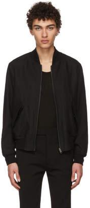 Ann Demeulemeester Reversible Black Ramson Bomber Jacket