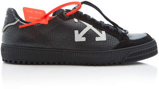 Off-White Suede-Trimmed Leather Low-Top Sneakers