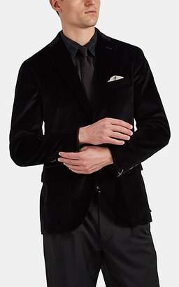 "Boglioli Men's ""K Jacket"" Cotton-Velvet Two-Button Sportcoat - Black"