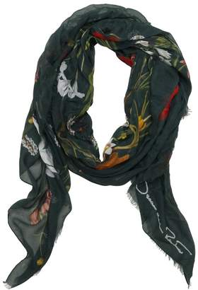 Oscar de la Renta Flower Harvest Modal and Cashmere-Blend Scarf