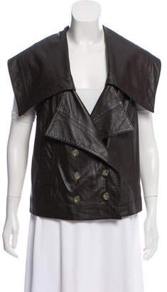 Robert Rodriguez Double-Breasted Leather Vest