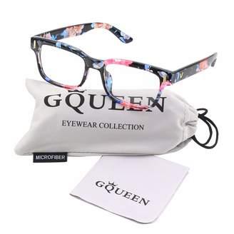 c63330e76aa8 clear GQUEEN 201584 Modern Fashion Rectangular Bold Thick Frame Lens Eye  Glasses