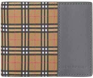 Burberry Small Scale Check and Leather Bifold Wallet