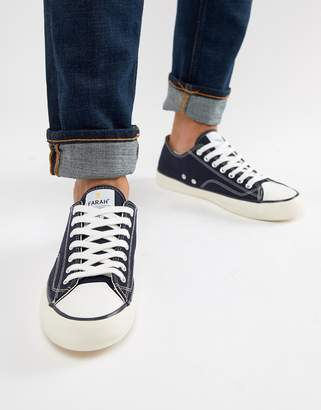 Farah Percy Suede Sneakers in Navy