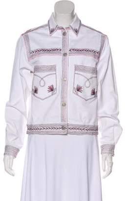 Etoile Isabel Marant Embroidered Denim Jacket