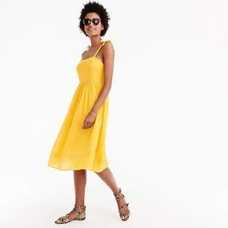 J.Crew Point Sur tie-shoulder dress in cotton voile