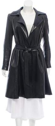 The Row Leather Trench Coat
