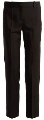 Givenchy Straight Leg Wool Blend Tailored Trousers - Womens - Black