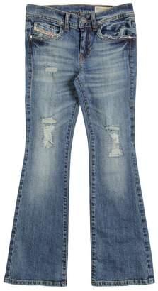 Diesel Flared Stretch Cotton Denim Jeans