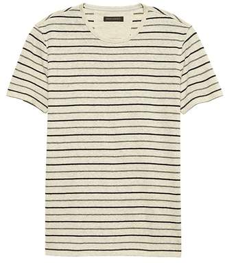 Banana Republic Linen-Cotton Crew-Neck T-Shirt