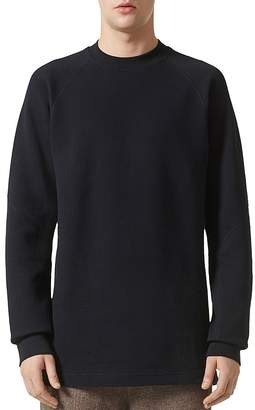 Adidas/Wings and Horns Double Waffle Knit Crewneck Long Sleeve Shirt