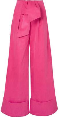 Paper London Twin Stretch-cotton Corduroy Wide-leg Pants - Pink