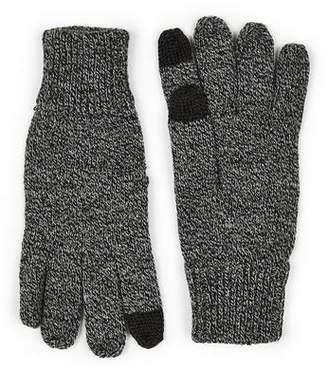 Topman Mens Grey Salt And Pepper Gray Touch Screen Gloves