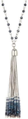 Black Diamond ACCESSORIES Beaded Tassel Pendant Necklace
