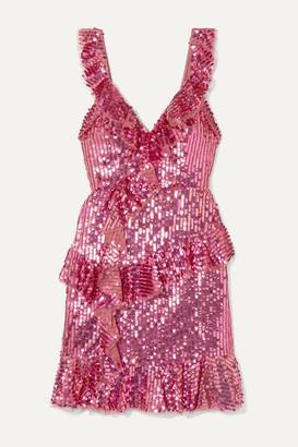 Needle & Thread Scarlett Sequined Tulle Mini Dress - Pink