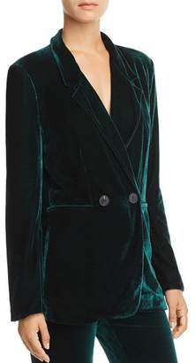 Aqua Velvet Double-Breasted Blazer - 100% Exclusive