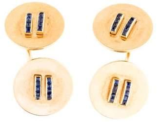 Cartier Sapphire Cufflinks