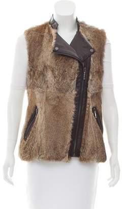 BCBGMAXAZRIA Fur-Paneled Vest