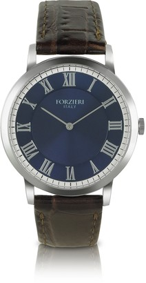 Forzieri Donatello - Slim Brown Leather Watch