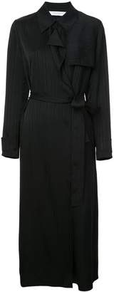 Kimora Lee Simmons belted silk trench coat