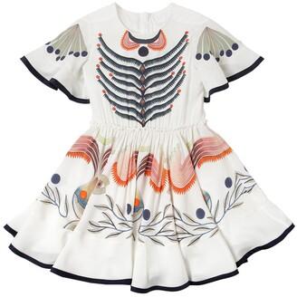 Chloé Printed Silk Satin Dress