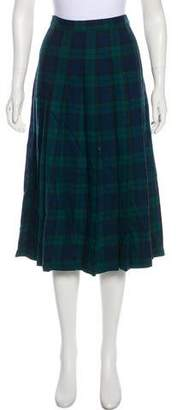 Pendleton Plaid Virgin Wool Skirt