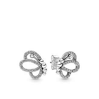 6524d7d7a at Amazon.co.uk · Pandora Women Silver Stud Earrings 297912CZ