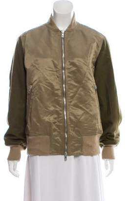 Rag & Bone Wool-Trimmed Bomber Jacket w/ Tags