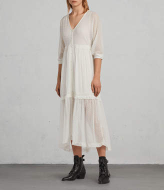 AllSaints Palma Polka Dress