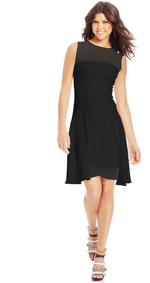 XOXO Juniors' Illusion A-Line Dress