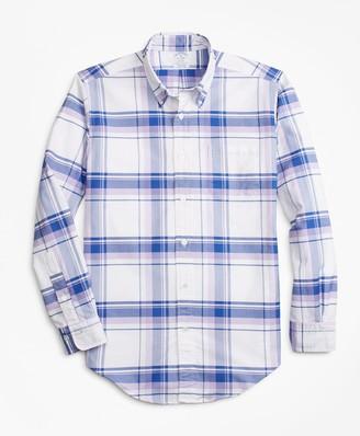 Brooks Brothers Regent Fit Oxford Plaid Sport Shirt